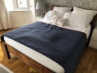 Reclaimed solid teak wood King Size Bed Frame with Mattress
