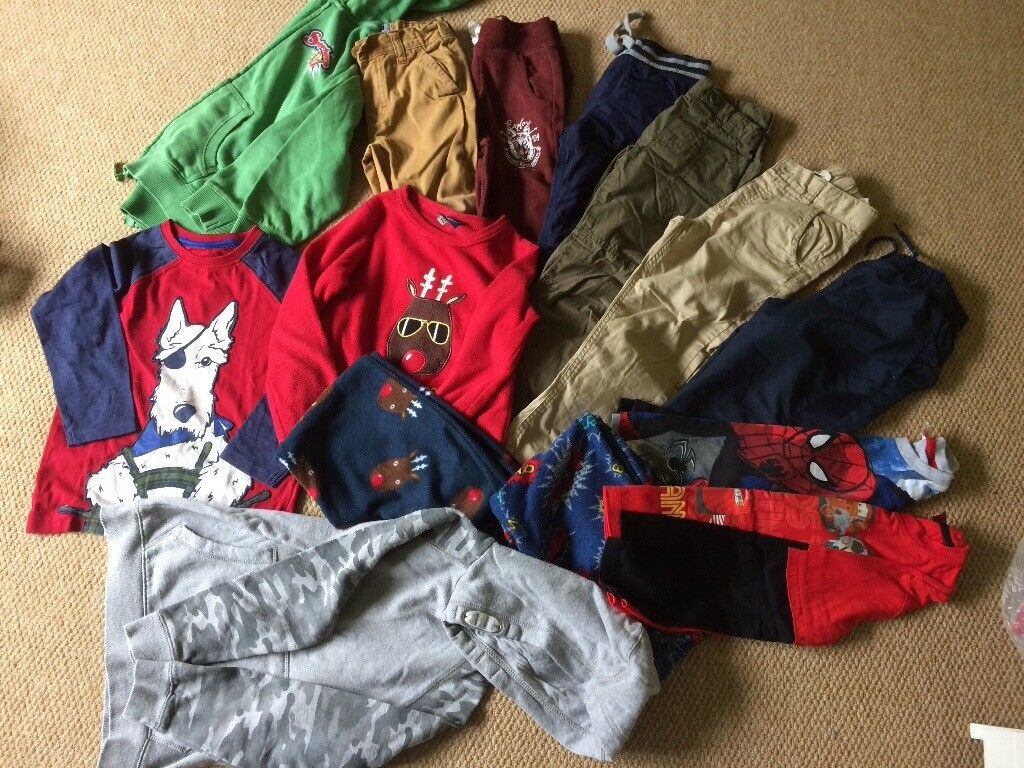 5 - 6years bundle - incl. 6x trousers, xmas fleece pjs