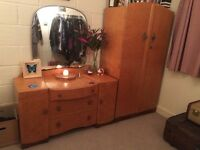 Vintage Retro 70s 80s Dressing Table Desk Drawers and Cupboard Wardrobe £500 ONO
