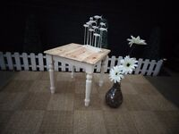 SOLID PINE FARMHOUSE COFFEE TABLE PROPER CHUNKY ONE PAINTED WITH LAURA ASHLEY PALE DOVE GREY