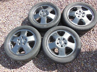 Alloy Wheels with tyres for Mercedes A Class and others. Set of 4 in Very Good Condition