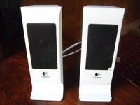 Pair of Logitech S-100 Computer Speakers