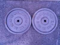 Gold gym 2 x 15kg metal weight plates