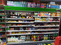 Full shop equipment shelving fridges