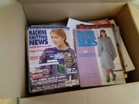 knitting machine magazines including a to z of knitting huge box full