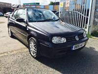 VW GOLF 2.0 COLOUR, CONVERTABLE / LEATHER / RARE CAR / FULL SERVICE HISTORY