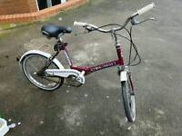 Raleigh Stowaway 3 folding bike