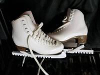 Leather Ice Skates - Ladies Size 5
