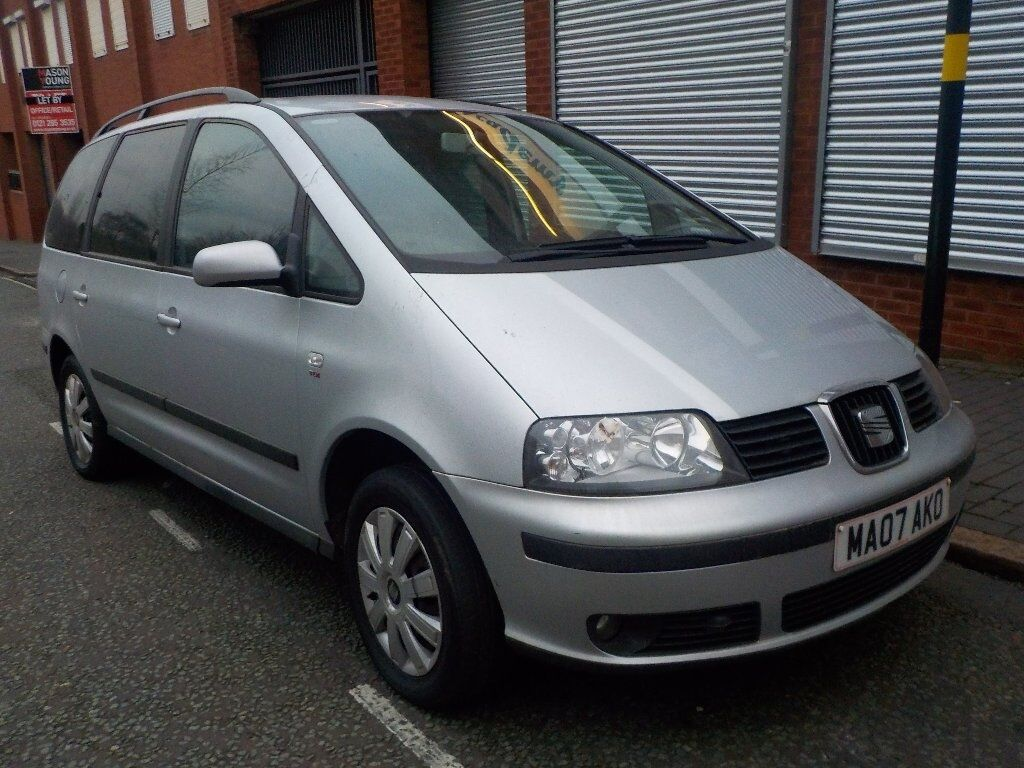 seat alhambra 2 0 tdi reference 5dr silver 2007 in. Black Bedroom Furniture Sets. Home Design Ideas
