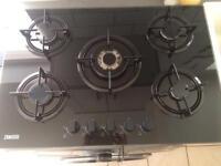 Zanussi Black Glass 5 burner Hob