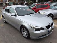 2005/05 BMW 5 SERIES 2.5 525i SE 4 DOOR AUTOMATIC SILVER,LOW MILEAGE,SERVICE HISTORY,HIGH SPEC