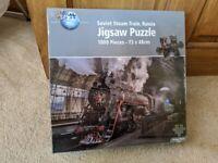Puzzle World 1000 piece 'Soviet Steam Train, Russia' Jigsaw Puzzle. Br