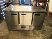 Commercial bench counter pizza fridge for pizza meat chiller restaurant ksjsnw
