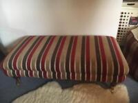 Large upholstered footstool