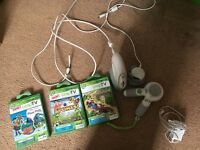 Leapfrog console with 3 games and controls