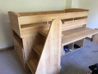 Kids Sleeper Bed with Table