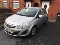 Vauxhall corsa 1.2 petrol 3dr silver 2013