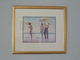 """Xmas Bargain"" - Framed print by Jack Vettriano - titled Mad Dogs."