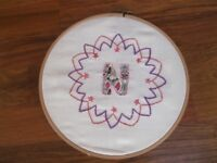 Hand embroidery with Applique. Beginners welcome.