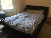 """Designer Double Bed and 10"""" Memory Foam Mattress - collection only"""