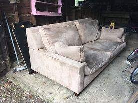 FREE Used suede sofa: Collection only