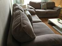 2 x Three Seater Sofas / Can Deliver
