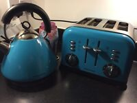 Morphy Richards Kettle & Toaster with Maching Storage Tins
