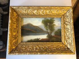 Oil painting in gilt frame