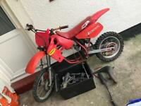 Honda Cr 80 red rocket not Yz rm Ktm 85 125 250 500 evo