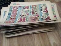 Large collection of Beano comics