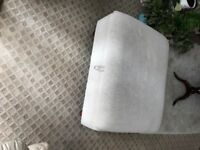 Beige Velour Footstool with storage.