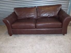 Genuine Marks & Spencer Brown Leather 3-1-1 Suite (Sofa)
