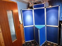 BLUE DISPLAY BOARD WITH LIGHTS