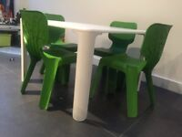Designer kids table & chairs : Reduced for quick sale !