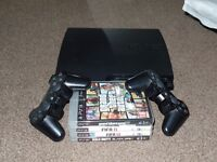 FAULTY PS3 320GB 3.55 + 2 CONTROLLERS + PSMOVE + EYE CAMERA + 4 GAMES