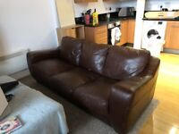 Large 3-Seater Leather Sofa