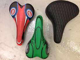 WHOLESALE!! BIKE SADDLES, FOR MTB/HYBRID/RACERS/TOWN, CHOICE OF 3 SADDLES, FROM 2 - 50