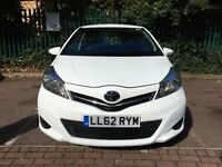 Toyota Yaris 2012 Automatic 62 plate prefect condition white colour.