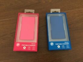 PAIR OF PORTABLE CHARGERS BRAND NEW UNUSED – ONLY £10