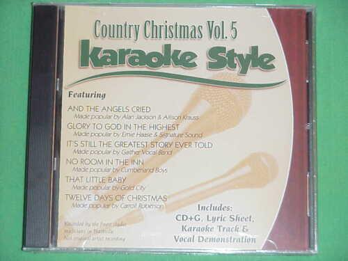Country Christmas  Volume #5  Daywind  Karaoke Style  CD+G  Karaoke  6 Songs NEW