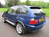 2005 55 BMW X5 3.0 D BLUEPERFORMANCE LE MANS BLUE SPORT EDITION AUTO FSH TOW BAR PX SWAPS