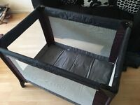 Mamas and papas travel cot with additional mattress
