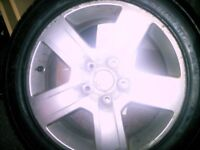 AUDI A4 ALLOY WHEEL AND TIRE