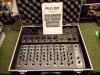 Compact format 8 channel mixer with built-in 16 program DSP and USB/SD audio player