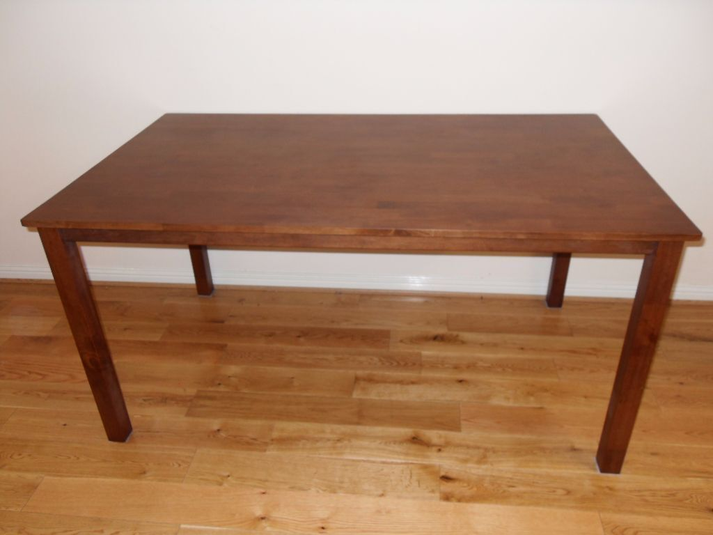 dining table work desk walnut stain 150 cm