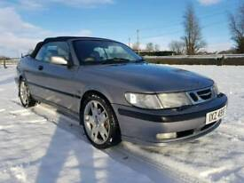 2001 SAAB 93 2.0 TURBO CONVERTIBLE MOTED TO JULY POSSIBLE PART EXCHANGE CREDIT CARDS ACCEPTED