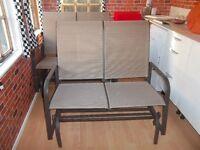 NEW 2 seater glider garden seat