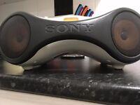 high quality sony sports mp3 cd radio boombox
