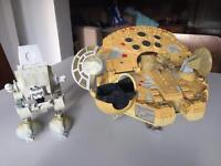 Star Wars Millennium Falcon, AT-ST walker and 34 Galactic heroes figures for sale
