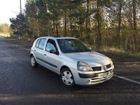 Renault clio expression dci turbo diesel 1.5cc 5 door 03/2003 2 keepers 186k history/invoices mot 15